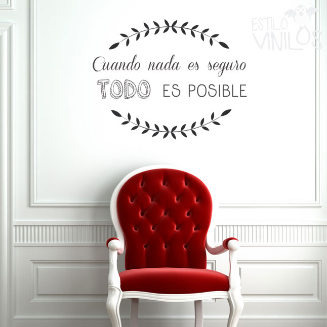 Viferente for Frases en vinilo para pared